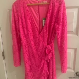 Lily Pulitzer lace wrap dress